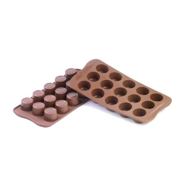 Moules en silicone bonbons Choc Praliné Silikomart