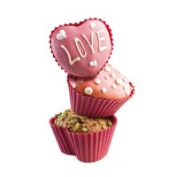 Silicone cupcakes molds heart shaped 6 pcs
