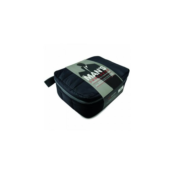 Pochette thermo noir pour lunch freshpockets max