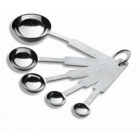 5 pcs. measuring spoon set s.teel inox