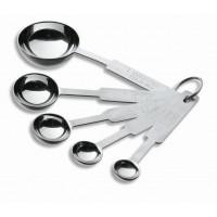 cucchiaio in acciaio inox set 5 pz di misura