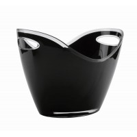 Black wine bucket (2 handles)