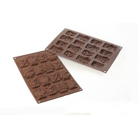 Stampo in silicone cioccolatini Choco Choco Tags Xmas Silikomart