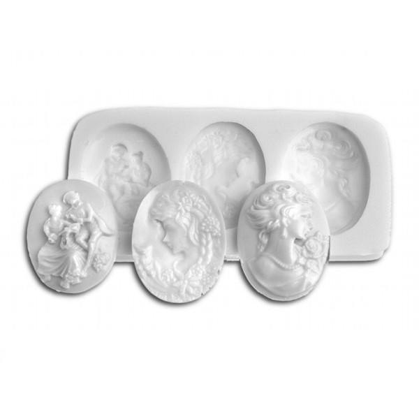 Sugarflex molde silicona camafeo SLK183 Silikomart