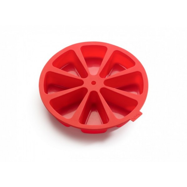 Red Lékué 8 cavity cake portion mould