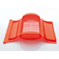 Red steam case + tray 1-2 people Lékué