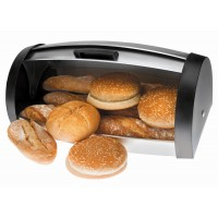 St steel bread bin foldable lid Lacor