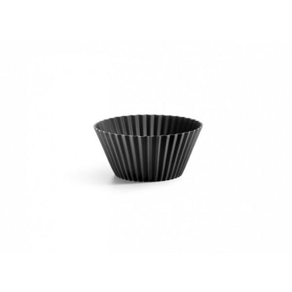 Stampo silicone madalene nero 6 pezzi Lékué