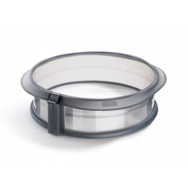 Molde Duo redondo silicona desmontable gris 23 cm Lékué