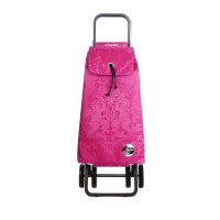 Shopping trolley cart pack Gloria logic dos+2 fuchsia 4 wheel