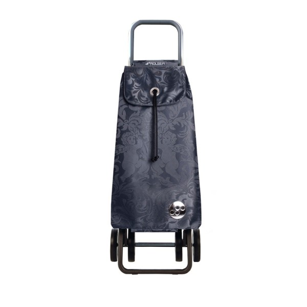 Shopping trolley cart pack Gloria logic dos+2 dark grey 4 wheel
