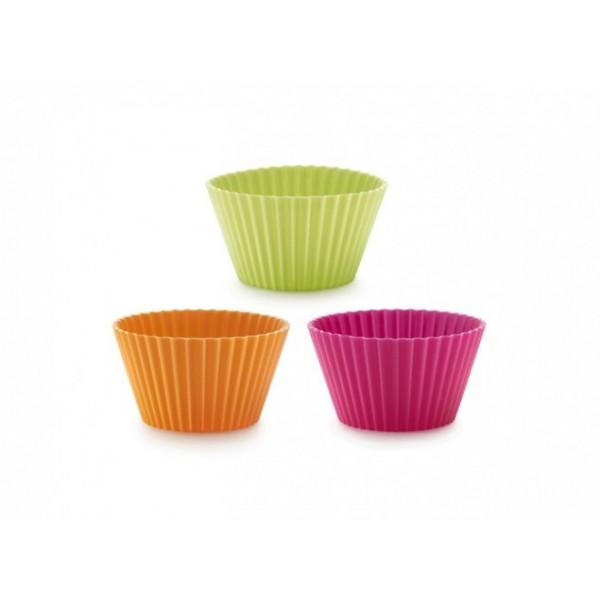 Multicolors Lékué mold silicone cup cake 6 pieces