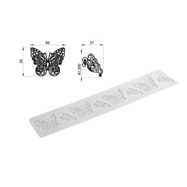 Stampo silicone Tricot Decor Butterfly Silikomart