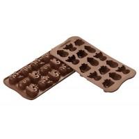 Moules en silicone bonbons Choco Winter Silikomart