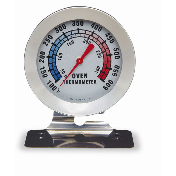 Oven thermometer with base