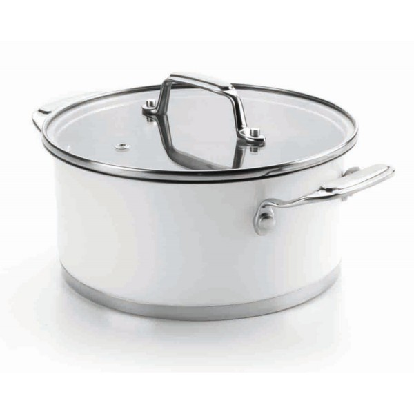 Casserole with lid 28 cm (white)