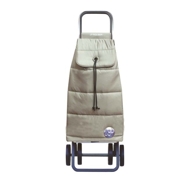 Shopping trolley cart pack Polar logic dos+2 champagne 4 wheels