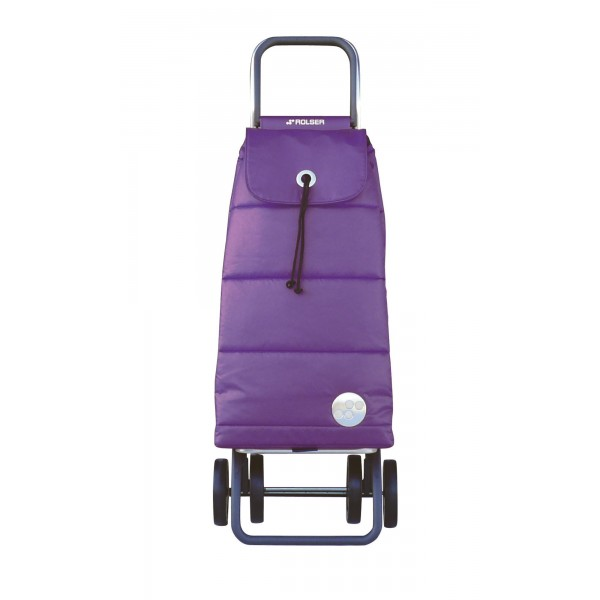Carrello spesa portatile pack polar logic dos+2 porpora 4 ruote