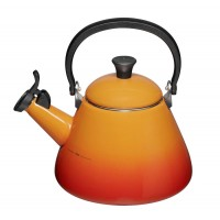 Orange volcanico teapot forged aluminum Le Creuset 1,6 l