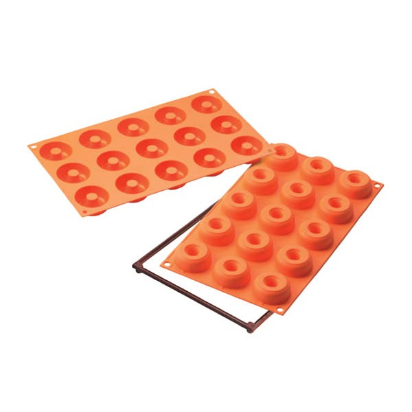 Molde donuts mini 15 cavidades Silikomart SF171