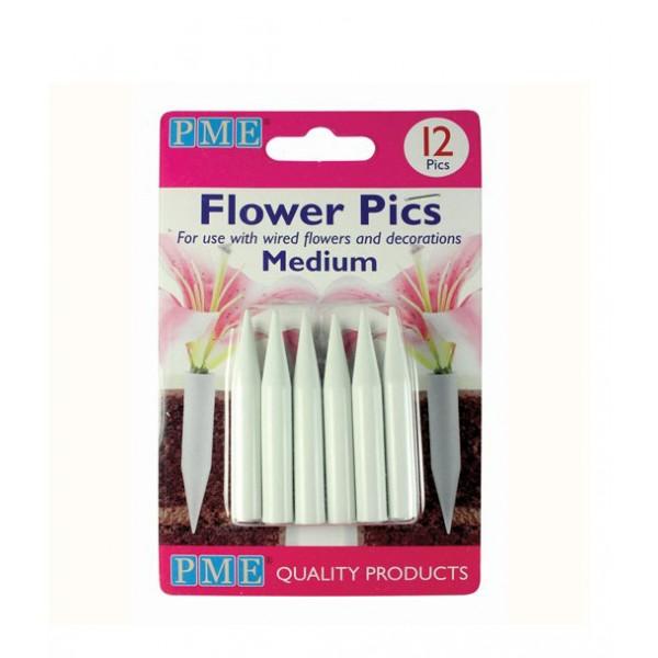 Tubes pour fleurs 12 pcs moyen PME