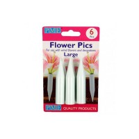 Flower pics 6 pcs large PME