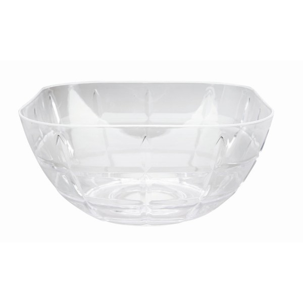 Acrylic square salad bowl