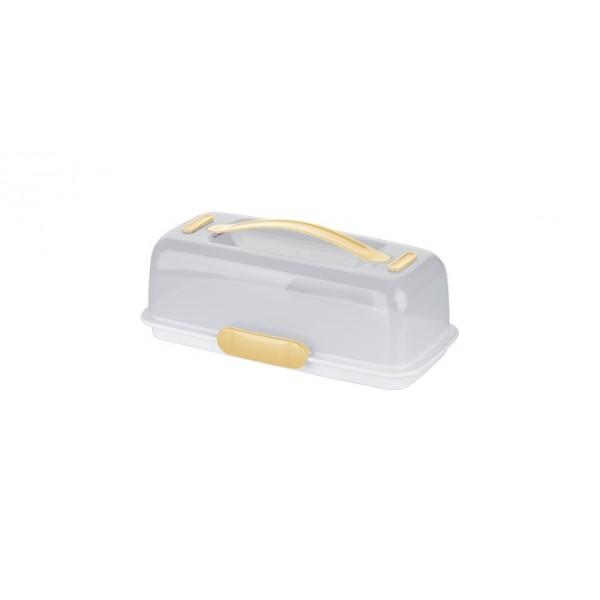 Porta tartas con hielo rectangular 36x18 cm Delicia