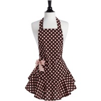 Brown and Pink Polka Dot Josephine Apron J essie Steele