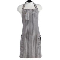 Navy stripe Men's Apron BBQ Jessie Steele