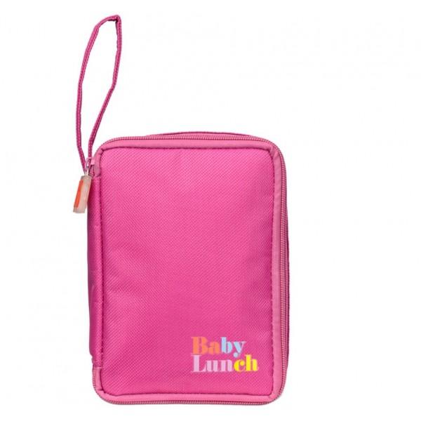 Bolsa isotérmica Baby Lunch rosa + tupper 450ml