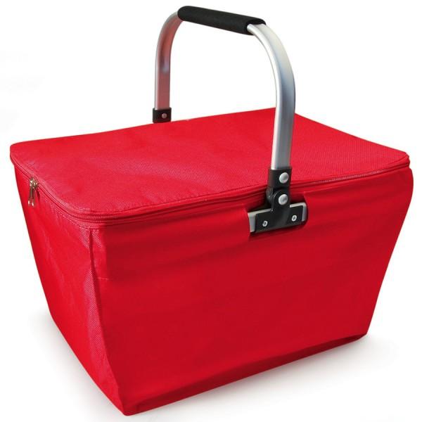 Bolsa isotérmica plegable Shopping Basket roja