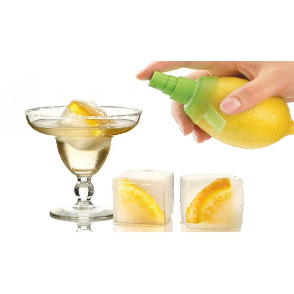 Set cocktail Lékué giant ice cube + citrus spray
