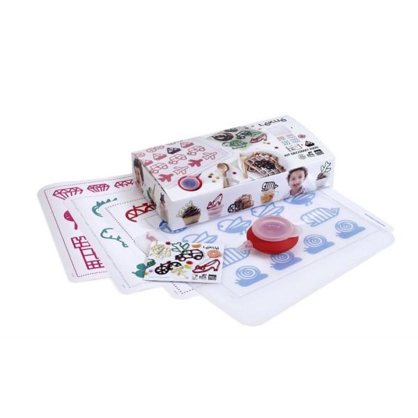 Lékué Cake Decorating Decomat Kits for Kids + Decopen and Stencils