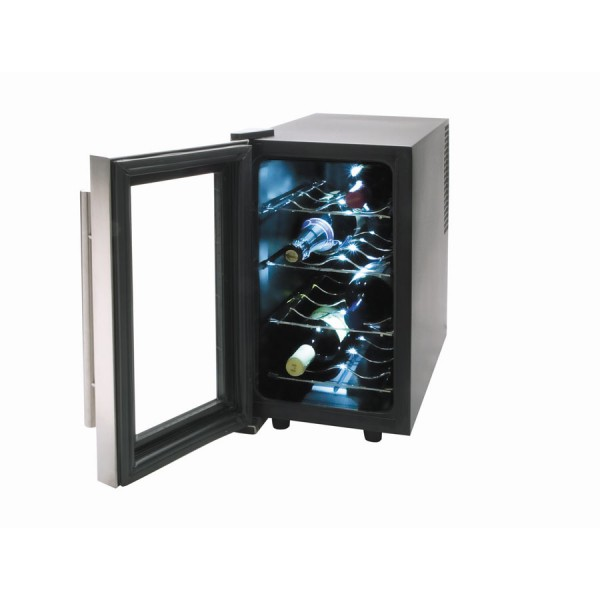 Thermoelectric wine cooler inox line (8 bottles)