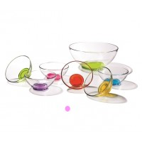 Bowl cristal base colores Aqua 13 cm