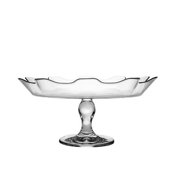 Plato vidrio con pie para tartas o frutas Splash 32 cm