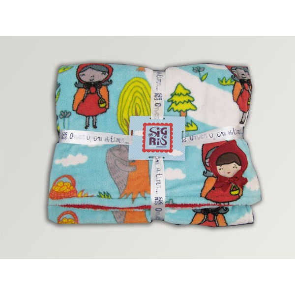 Infant blankets Riding Hood blue or yellow