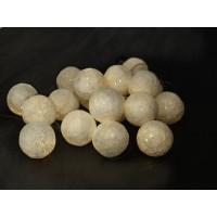 Guirnalda bolas de hilos 20 led blancos