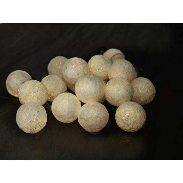Garland wire led balls white