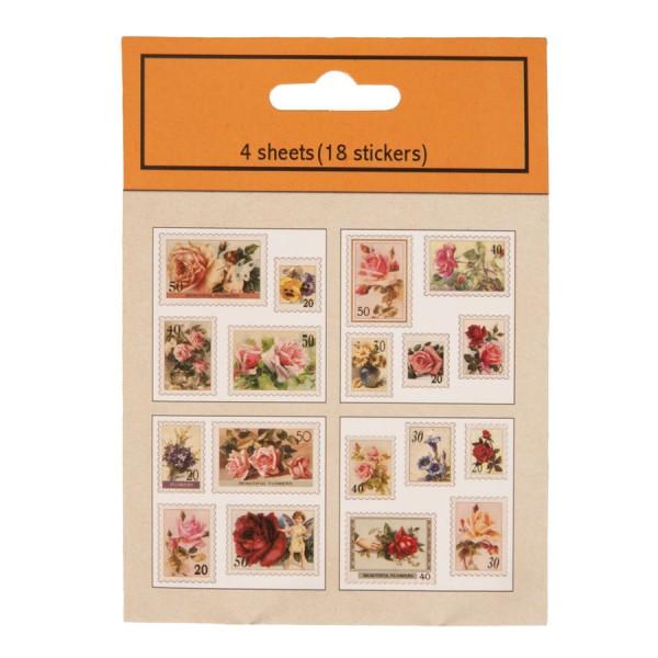 Stickers (10) 9x12 cm multi colori