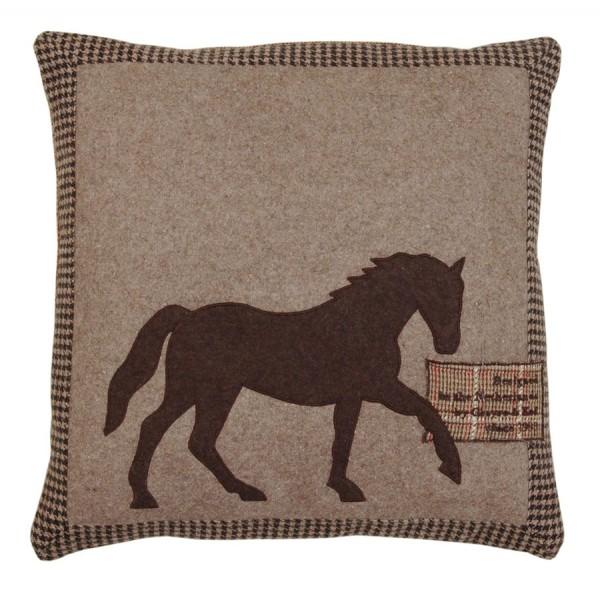 Cojín fieltro marrón caballo