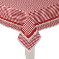 Tablecloth 150x150 cm red