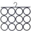 Crochet cravates et foulards gris 12 cercles