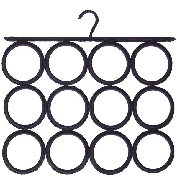 Crochet cravates et foulards noir 12 cercles