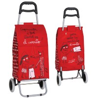 """Carrello spesa portatile rosso 2 ruote """"Caperucita"""""""
