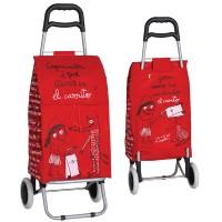 "Carro compra rojo 2 ruedas ""Caperucita"""