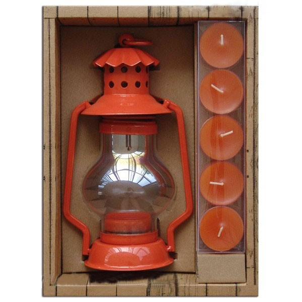 Orange lantern holders gift set