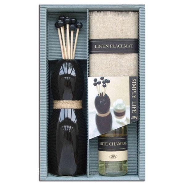 Set regalo aromático mikado + Tapete + Aceite White champak