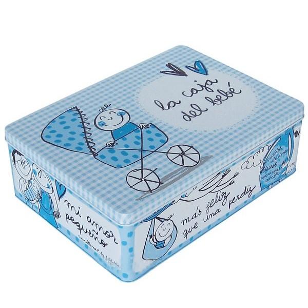"""Blue metal box """"La caja del bebé"""""""